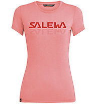 Salewa Graphic Dri-Rel W S/S Tee - T-Shirt - Damen, Light Red/Red