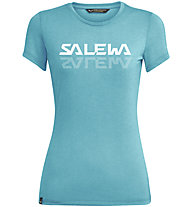 Salewa Graphic Dri-Rel W S/S Tee - T-Shirt - Damen, Azure/White