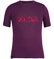 Salewa Graphic Dry K S/S - T-shirt - bambino, Violet