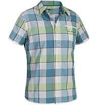 Salewa Henry DRY AM S/S Shirt, Blue/Green