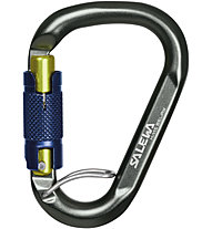 Salewa HMS Belay Twist Lock - Schraubkarabiner, Grey/Blue