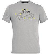 Salewa Illustration Dry M S/S - Trekking-T-Shirt - Herren, Light Grey