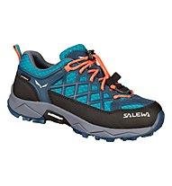 Salewa Jr Wildfire WP - Trekkingschuhe - Kinder, Blue/Grey/Orange