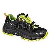 Salewa Jr Wildfire WP - scarpe da trekking - bambino, Black/Green