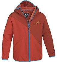 Salewa Jumbo Love Stormwall - giacca Softshell arrampicata - bambino, Terracotta
