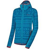 Salewa Lavaze Pl - giacca in pile con cappuccio - donna, Blue