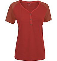 Salewa Lipella Dry'ton - T-Shirt trekking - donna, Red