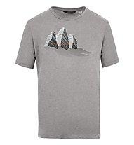 Salewa M Lines Graphic 1 S/S - T-shirt - uomo, Grey