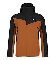 Salewa Moiazza - giacca in GORE-TEX® con cappuccio - uomo, Brown/Black