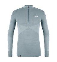 Salewa Zebru Responsive 1/2 Zip - technische Langarmshirt - Herren, Light Grey