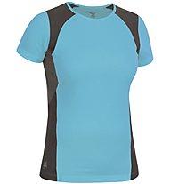 Salewa Mikeno Dry'ton - T-shirt trail running - donna, Light Blue