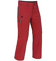 Salewa Mira DRY - pantaloni lunghi zip-off trekking - bambino, Red
