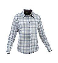Salewa Molignon PL W L/S Shirt Camicia a maniche lunghe trekking Donna, Tender Sea Blue