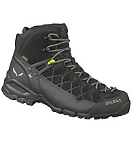 Salewa Alp Trainer Mid GTX - scarpe da trekking - uomo, Black/Green