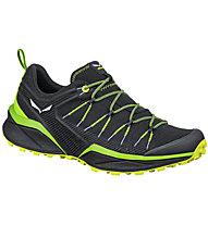 Salewa MS Dropline - scarpe trail running - uomo, Black/Green