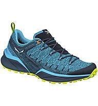 Salewa MS Dropline - scarpe trail running - uomo, Light Blue/Blue/Green