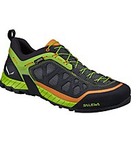 Salewa Firetail 3 GTX - scarpe da avvicinamento - uomo, Black/Green