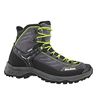 Salewa MS Hike Trainer Mid GTX - scarpe da trekking - uomo, Black/Green
