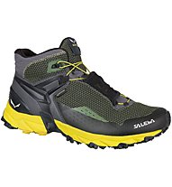 Salewa Ultra Flex Mid - GORE-TEX Trailrunningschuh - Herren, Grey/Yellow