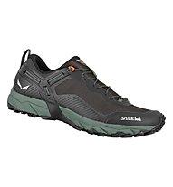 Salewa Ms Ultra Train 3 - scarpe speed hiking - uomo, Black/Green