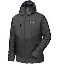 Salewa Ortles 3 Prl - giacca con cappuccio - uomo, Black