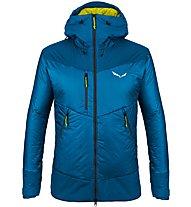 Salewa Ortles Awp - giacca sci alpinismo - uomo, Blue/Yellow