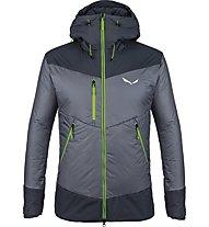 Salewa Ortles Awp - giacca sci alpinismo - uomo, Dark Grey/Grey/Green