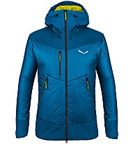 Salewa Ortles Awp - giacca sci alpinismo - uomo, Blue/Yellow