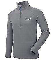 Salewa Ortles Cubic PL - Pullover mit Reißverschluss - Herren, Grey
