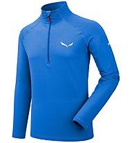 Salewa Ortles Cubic PL - Pullover mit Reißverschluss - Herren, Blue