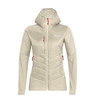 Salewa Ortles Hybrid Tw Clt - giacca ibrida - donna, Cream/Red