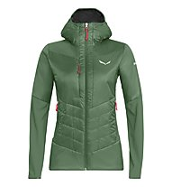Salewa Ortles Hybrid Tw Clt - giacca ibrida - donna, Dark Green/Red