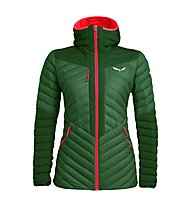 Salewa Ortles Light 2 Down Hooded - giacca in piuma - donna, Green/Red