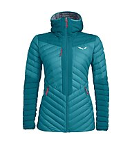 Salewa Ortles Light 2 Down Hooded - giacca in piuma - donna, Light Blue/Red