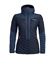 Salewa Ortles Light 2 Down Hooded - giacca in piuma - donna, Navy/Red