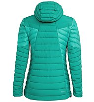 Salewa Ortles Light 2 Down Hooded - giacca in piuma - donna, Green/Grey/Red