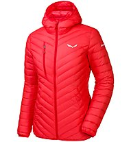 Salewa Ortles Light Down - giacca in piuma con cappuccio sci alpinismo - donna, Hot Coral
