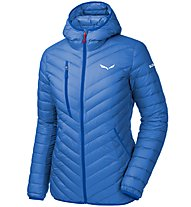 Salewa Ortles Light Down - giacca in piuma con cappuccio sci alpinismo - donna, Light Blue