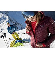 Salewa Ortles Light Down - giacca in piuma con cappuccio sci alpinismo - donna, Red