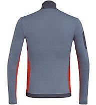 Salewa Ortles M L/S Zip - maglia a maniche lunghe - uomo, Grey/Red