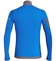 Salewa Ortles M L/S Zip - maglia a maniche lunghe - uomo, Light Blue