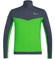 Salewa Ortles M L/S Zip - maglia a maniche lunghe - uomo, Dark Grey/Green