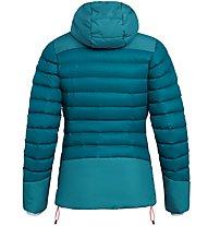 Salewa Ortles Medium 2 Dwn W - giacca in piuma - donna, Light Blue/Grey/Red