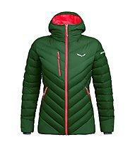 Salewa Ortles Medium 2 Dwn W - giacca in piuma - donna, Green/Red