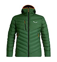 Salewa Ortles Medium 2 - giacca in piuma - uomo, Green/Black/Orange
