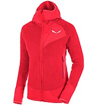 Salewa Ortles PTC Highloft - Fleecejacke mit Kapuze - Damen, Red