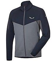 Salewa Ortles - giacca in pile trekking - uomo, Blue/Grey