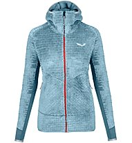 Salewa Ortles Ptc/Wo - Fleecejacke mit Kapuze - Damen, Light Blue/Red