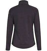 Salewa Ortles W L/S Zip - felpa in pile con zip - donna, Black