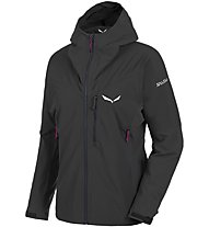 Salewa Ortles Ws/Dst - giacca softshell alpinismo - donna, Black